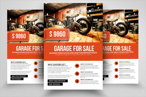 Garage Sale Promo Flyer Templates