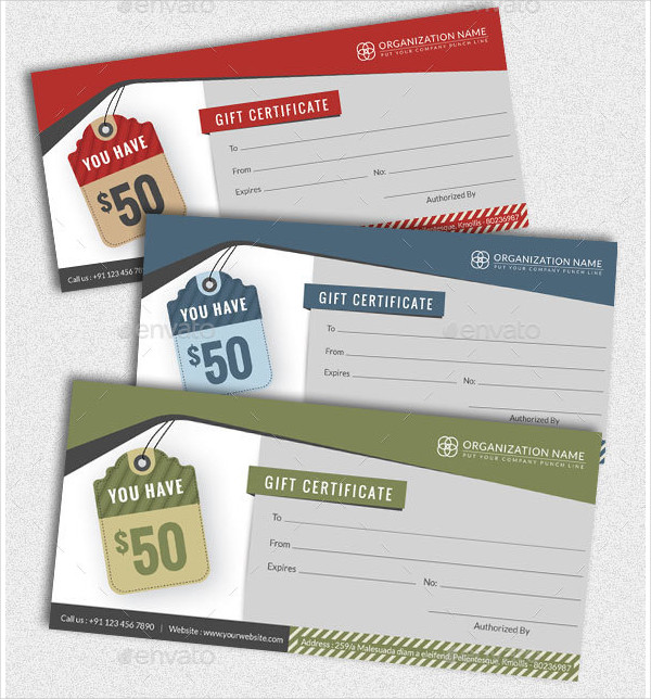 20 Holiday Gift Certificate Templates  Free Sample