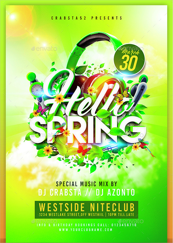 Spring Flyer Template CvsentSpring Bash Flyer Review Download Top