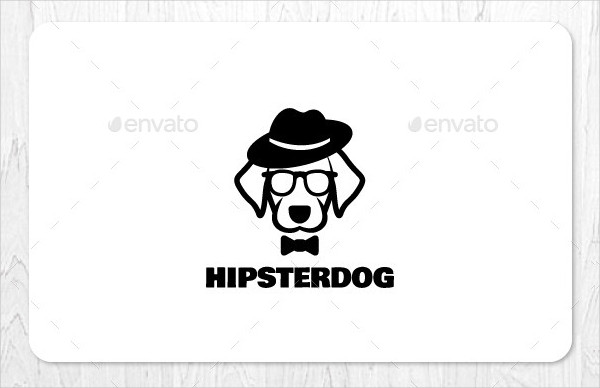 Hipster Dog Logo Design