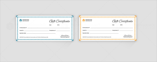 Perfect Gift Certificate Template