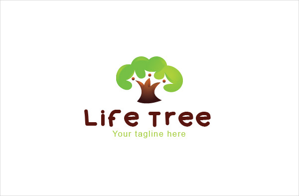 Life Tree Environment Friendly Logo Template