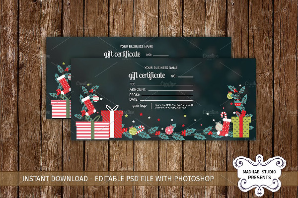 Best Gift Certificate Template