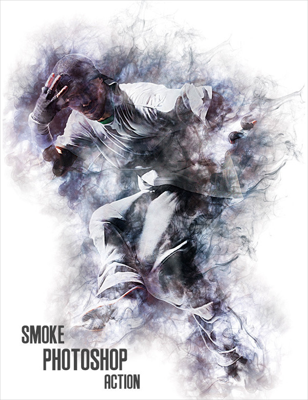 Cool Smoke Effect Photoshop Action