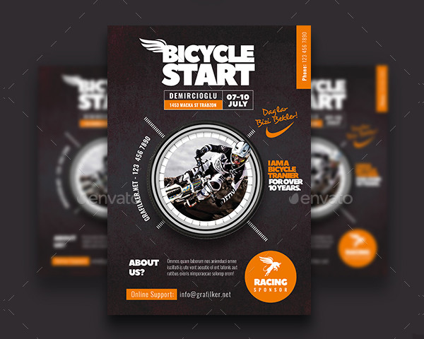 Modern Bicycle Racing Flyer Templates