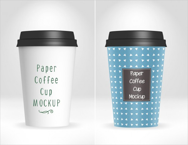 Paper Coffee Cup Mockup Design