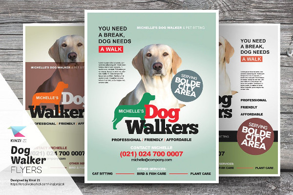 Perfect Dog Walker Flyer Templates