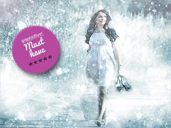Popular Winter Photoshop Action