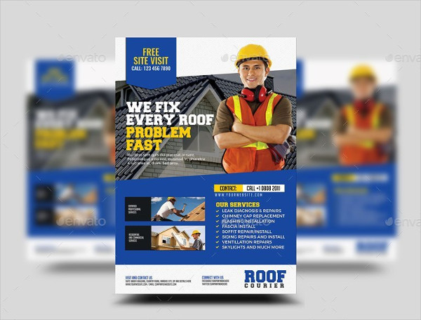 Print Ready Roofing Flyer Template