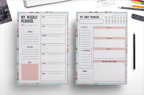 25  weekly planner templates