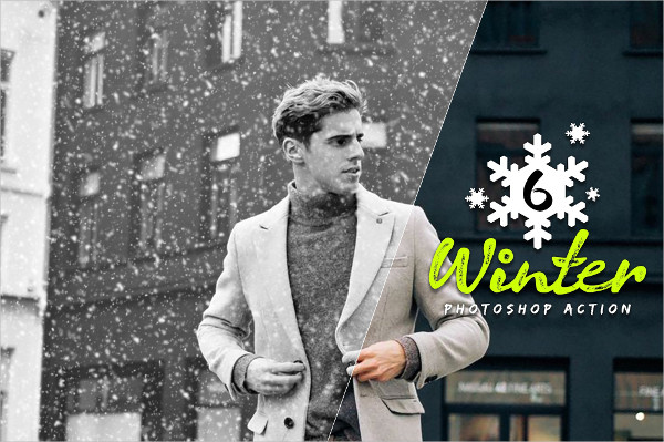 6 Professional Winter Photoshop Actions