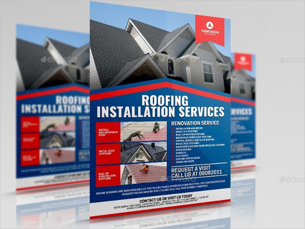 Roofing Installation Services Flyer Template