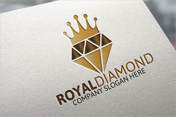 Royal Diamond Design Logo Template