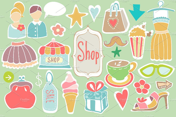 Set of Shop Sign Icons
