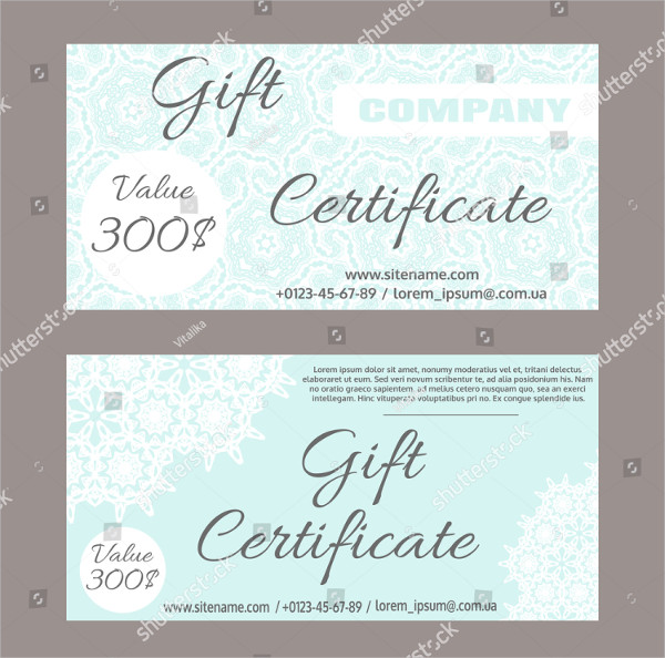 Set of Vector Gift Certificate Templates