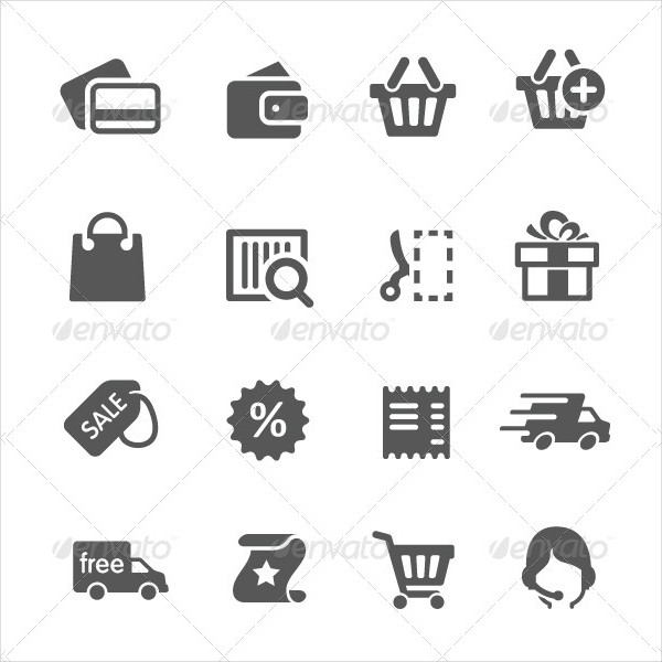 Simple Shopping Related Icons