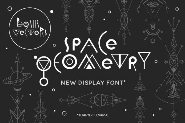 Space Geometry Display Font