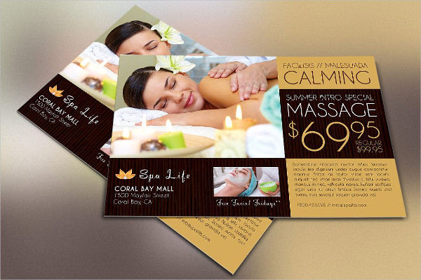 Special Spa Postcard or Flyer Template