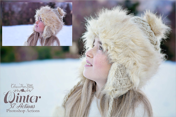 37 Winter Actions for Photoshop