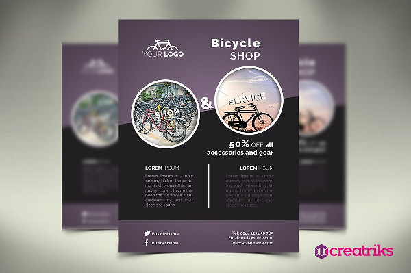 Stylish Bicycle Flyer Template