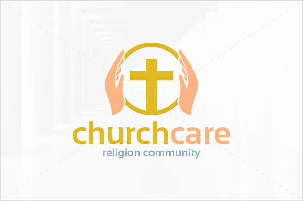 Stylish Church Care Logo Template