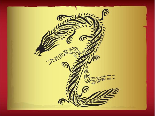 Stylish Dragon Tattoo Design Free