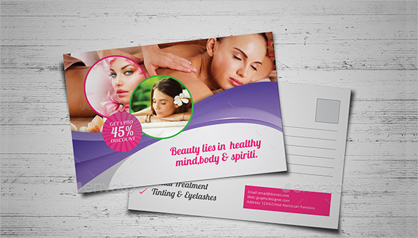 Corporate Style Beauty & Spa Post Card Design