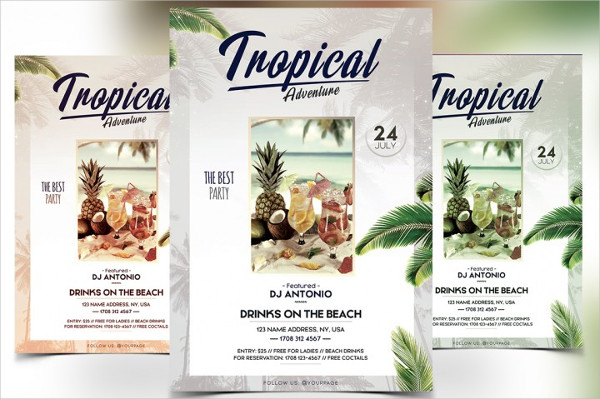 Tropical Adventure PSD Flyer Template