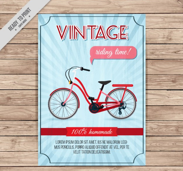 Vintage Bicycle Flyer Design Free Download
