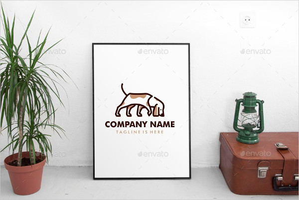 Walking Dog Smells Logo Template