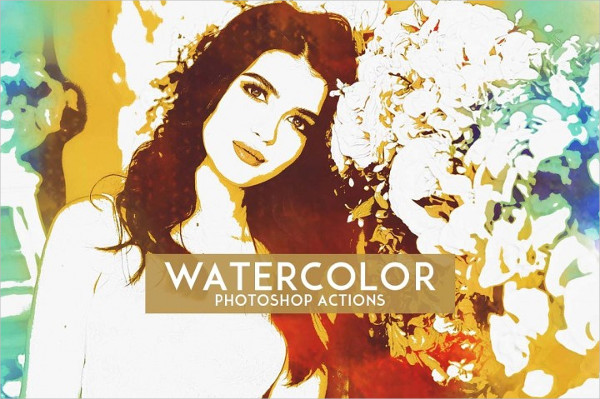 Watercolor Artistic Photoshop Actions