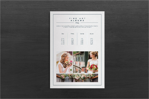 Clean Photography Pricing Guide Template