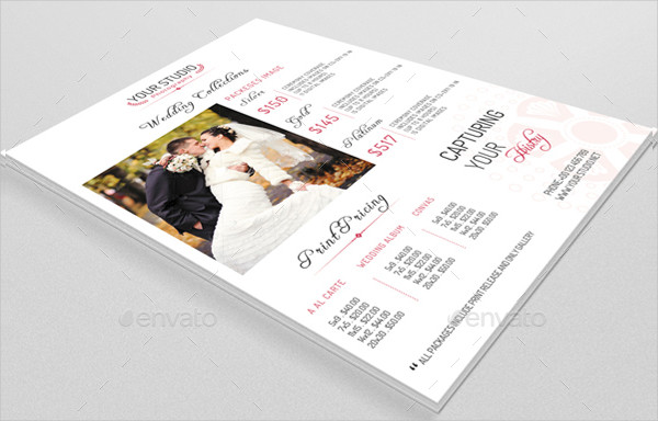 Wedding Photography Pricing Flyer Template