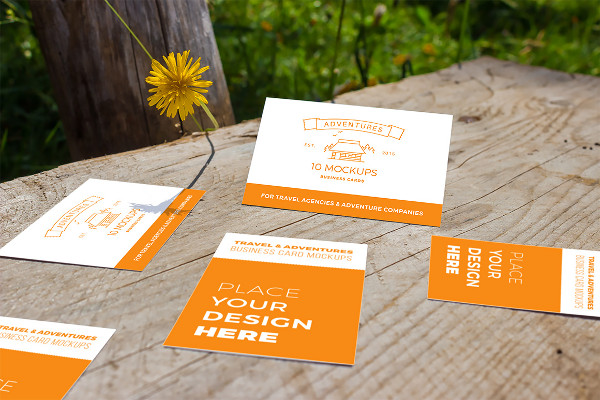 10 Fresh Business Card Mockups