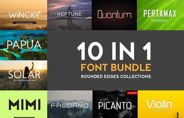 10 In 1 Professional Fonts Bundle