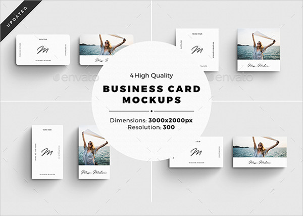 4 Business Card Mock-Ups Presentation