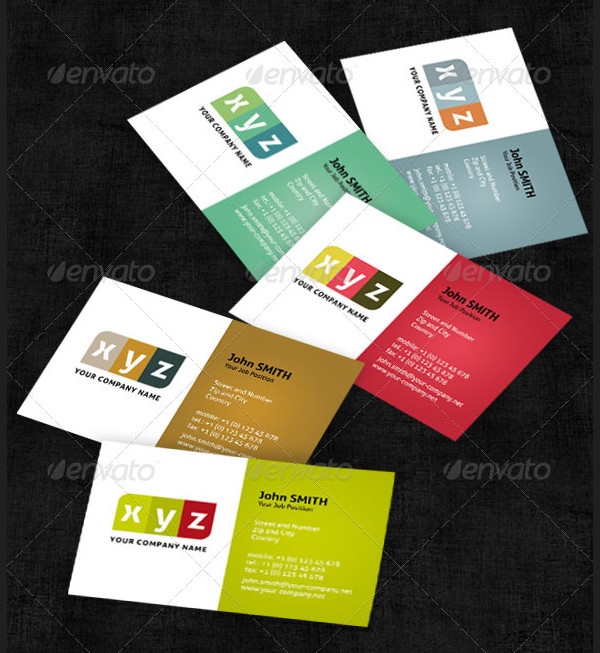5 Colorful Business Cards