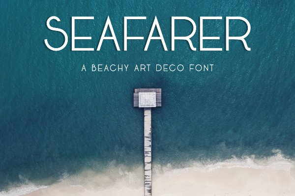 A Beachy Art Deco Regular Font
