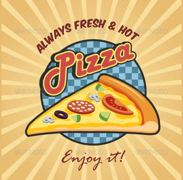 Fresh Pizza Advertising Poster Template