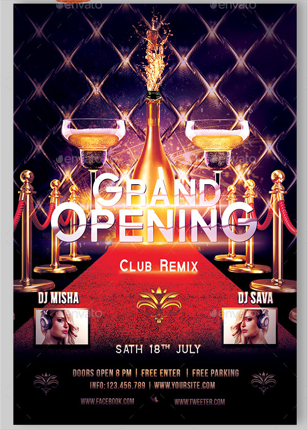 Awesome Grand Opening Flyer Template