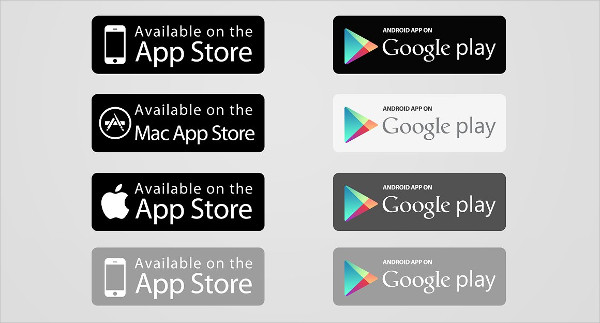 App Store & Google Play Buttons
