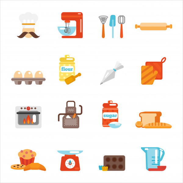 Bakery Icon Flat Free Download