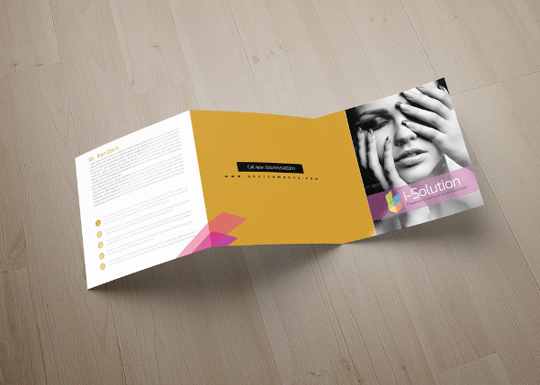 Beauty & Fashion Square Trifold Brochure