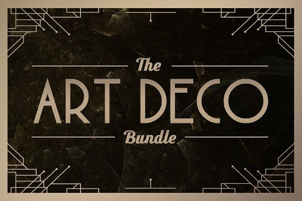 Big Art Deco Fonts Bundle