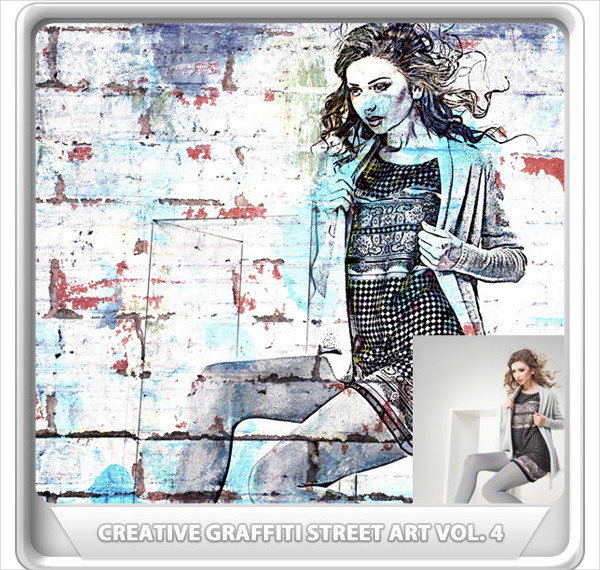 Big Graffiti Photoshop Actions Bundle