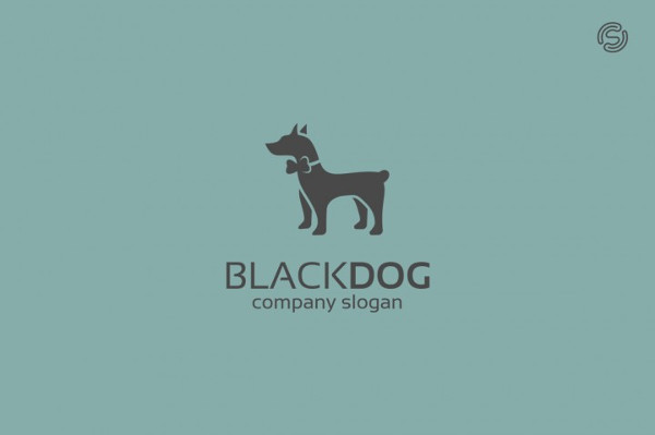Black Dog Logo Template