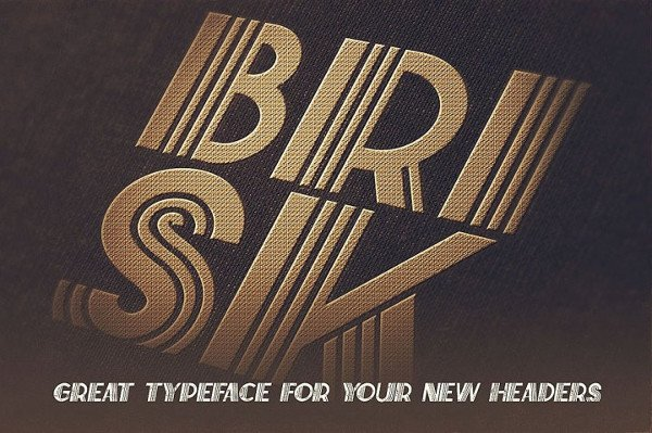 Brisk Art Deco Display Font