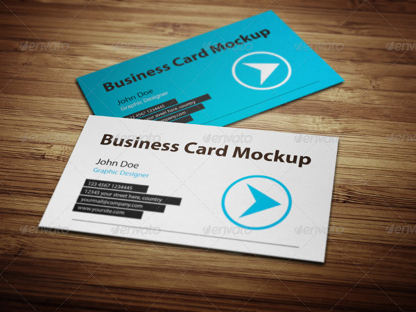 Business Card Showcase Mockup Design