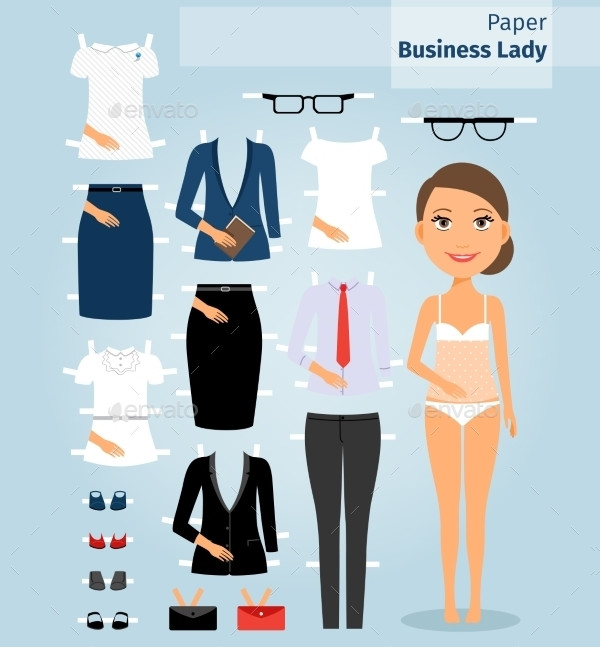 25  printable paper doll templates