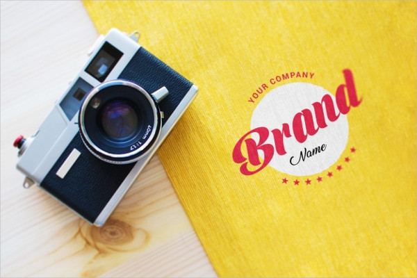 Camera & Logo Mock-Up Free PSD